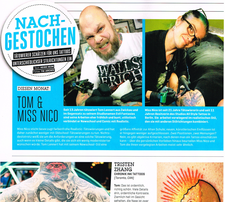 DeutschesTätowierMagazin10-2014 miss Nico Interview