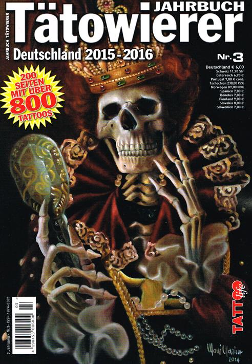 Jahrbuch Tätowierer deutschland 15-16 Allstyle Tattoo