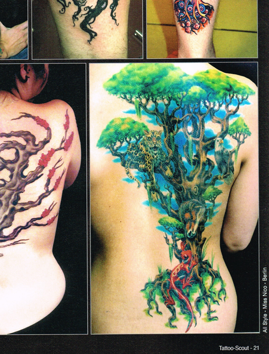 Tattoo Scout 9-14 miss Nico All Style Tattoo Lebensbaum tree
